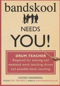 bandskool drum teacher